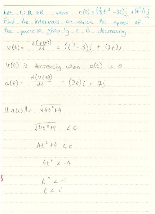 speed | First Year in Maths